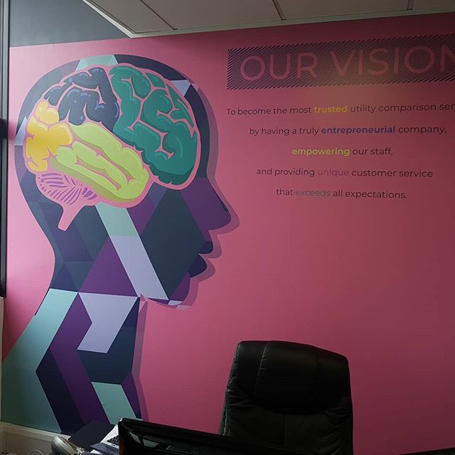 Office Wall Graphics Installed This Afternoon In Manchester Print Signs Vinyl Www Stretfordstudios Co Uk Snapwidget