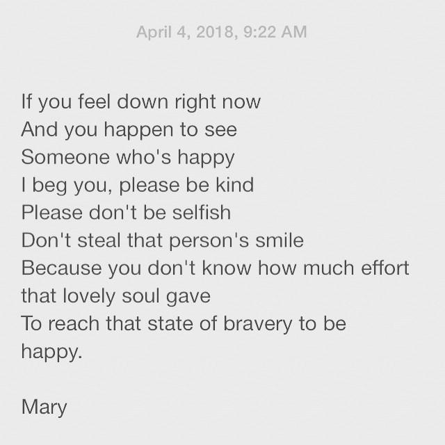 note to self please be kind poem poems poet poetry