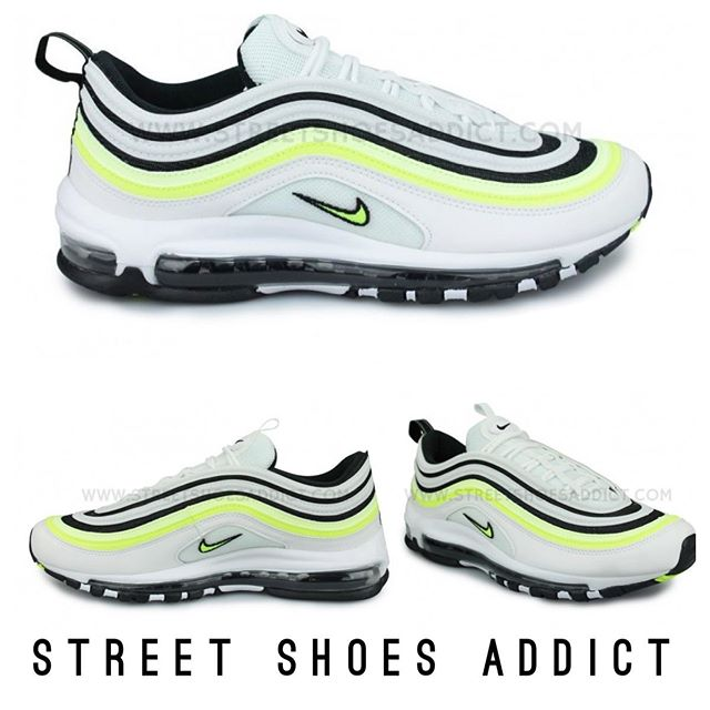 superior quality buy buy cheap Nike Air Max 97 SE BLANC 179.95€ Coloris Blanc/Jaune/Noir ...