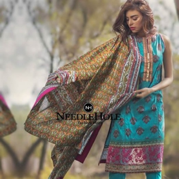 7b22a88f91 2 Piece Embroidered Lawn Suit By #Alkaram Studio. Two Piece Stitched ...
