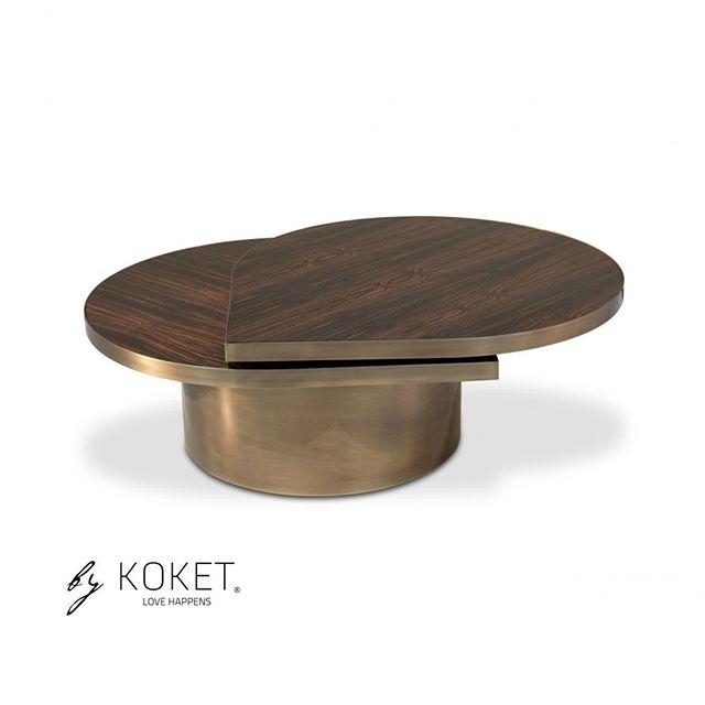 senaste rabatt leta efter väldigt billigt A striking combination of shaped ebony wood veneer and aged brass ...