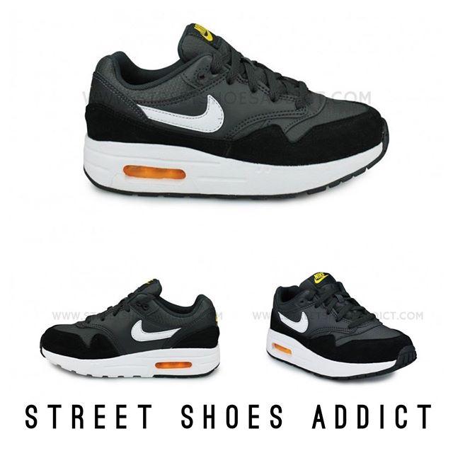 rencontrer a0604 390e1 Nike Air Max 1 Enfant Gris 74.95€ Coloris gris/noir/bleu ...