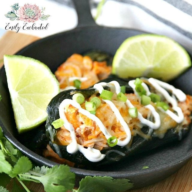 Love mexican food but not the spice try these delicious chicken love mexican food but not the spice try these delicious chicken stuffed poblano peppers fyi poblanos are mild grab a margarita and get the forumfinder Gallery