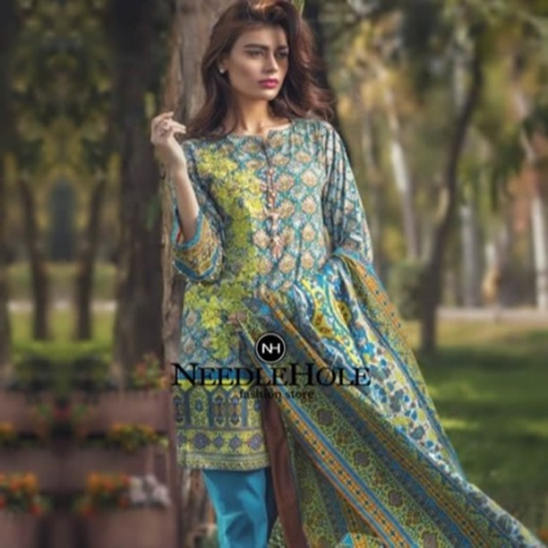 1d9588c01e 2 Piece Embroidered Lawn Suit By Alkaram Studio. Two Piece Stitched and  Unstitched Designer #Lawn #Dress #Fabric Only $39 ...