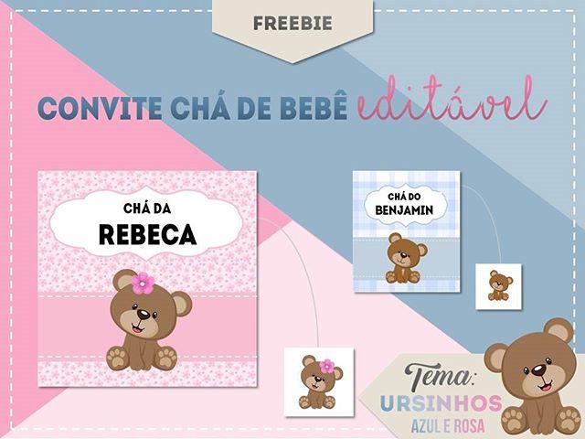 Mais Um Freebie Disponível No Blog Convite Para Chá De Bebê