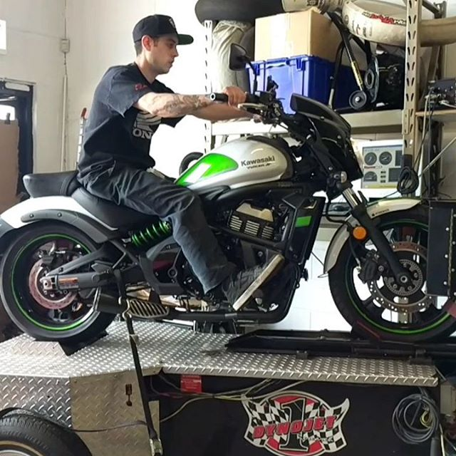 Did you know we offer Dyno Tuning? This 2017 Kawasaki Vulcan S