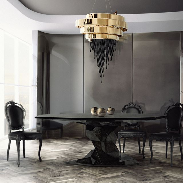 A Bold Dark Dining Room Concept For The Most Exclusive Interior Inspiration Design For Dining Room Concept