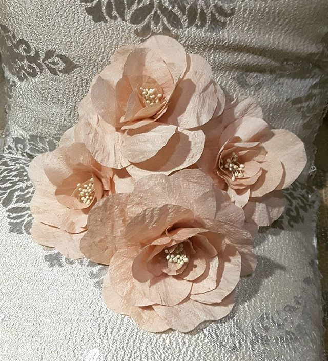 Pretty And Delicate Handcrafted Raw Silk Flowers Especially Made